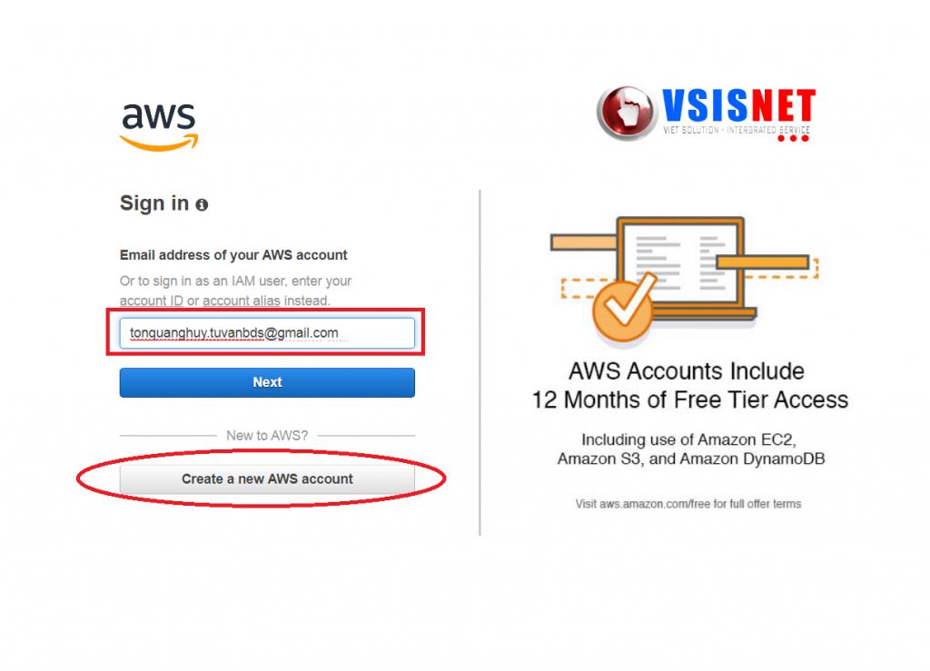 Hướng dẫn tạo tài khoản AmazonSES